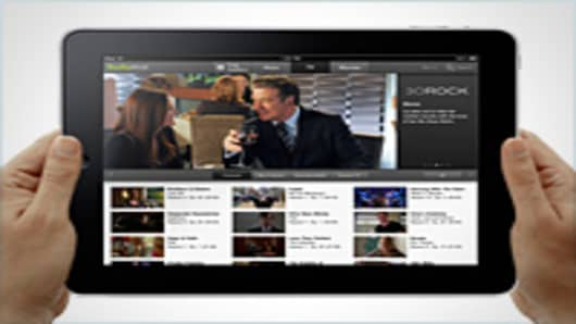 Hulu Plus on an iPad