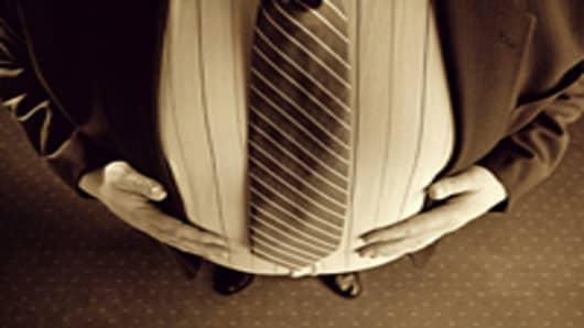 Corpulent businessman
