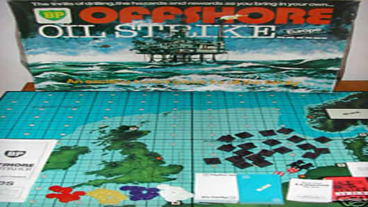 BP Offshore Oil Strike board game