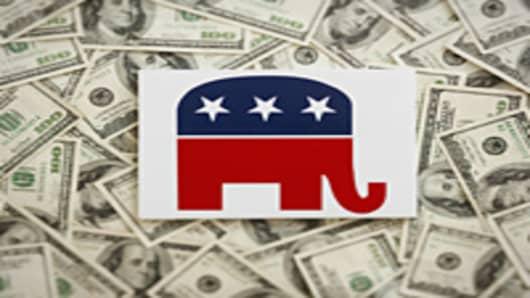 GOP symbol and cash