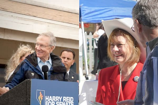 Senate majority leader and incumbent Harry Reid (D) is facing tough competition from former State Assemblywoman, and Tea Party favorite, Sharron Angle (R) as Reid tries to hold on to his Senate seat for a fifth term.