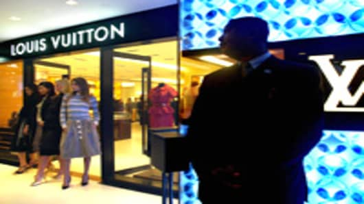 The grand opening Louis Vuitton shop in Hong Kong.