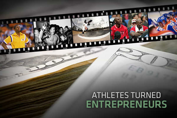 "In today's sports-crazed world, athletes like Lebron James and Tony Hawk have quickly become household names. But it's not just their sport that's making them famous. Athletes are becoming known for their entrepreneurship and savvy business deals—earning more off the playing field than on. From personalized apparel to multimillion dollar investment companies, see why these athletes truly ""score"" in the business world."