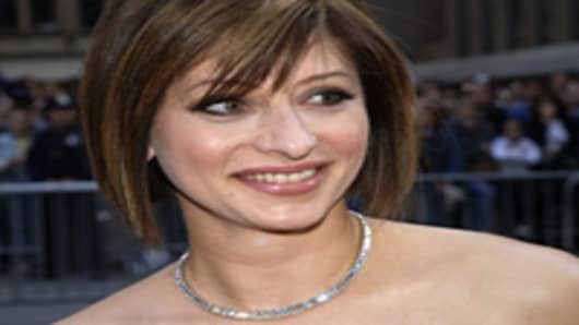 Maria Bartiromo from CNBC attends the NBC 75th Anniversary on May 6, 2002.