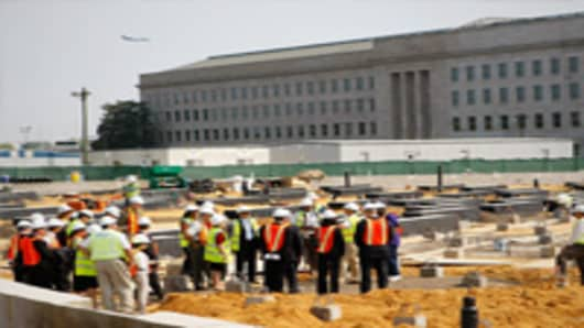 Construction at the Pentagon.