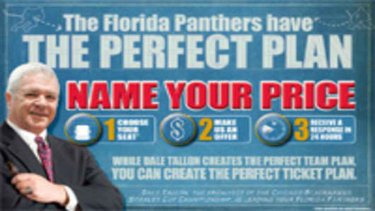 "Florida Panthers announced their ""Perfect Plan"" on their website."