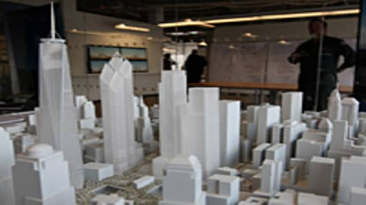 A model of the future World Trade Center site.