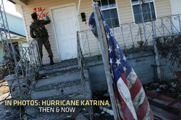 When Hurricane Katrina reached New Orleans on August 25, 2005, it crushed the levees and flooded more than 80 percent of the city. The damage reached well beyond the Big Easy, however, leaving in its wake $81 billion in property damages to the Gulf Coast. , there is still a massive amount of rebuilding and recovery to be done. Take a look at some striking images from the devasted area, then and now.