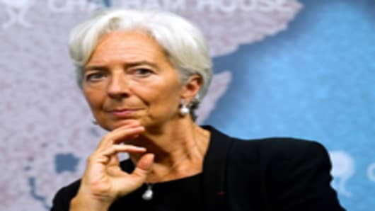 French Finance Minister Christine Lagarde is considered the top contender to replace Strauss-Kahn as IMF chief.