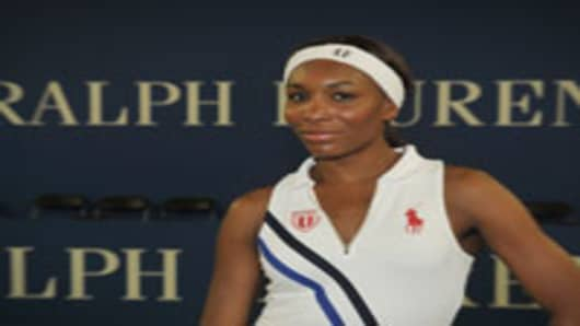 Tennis player Venus Williams attends the Polo Ralph Lauren Legends Tennis Clinic at Sportime at Randall's Island Tennis Center.