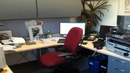 Jane's semi-messy desk.