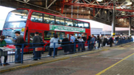 Commuters leaving London Bridge Station Sept. 7 faced an Underground strike and were forced to wait to squeeze into crammed buses or walk to work.