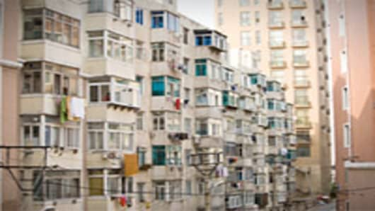 Apartment buildings in Liaoning Province, China.