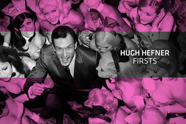 "Hugh Hefner's lifestyle has forever changed American pop culture. From small publication to full blown international brand, Hefner became one of the most famous entrepreneurs of our time. But the man who grew up to be a magazine magnate and famous playboy came from humble beginnings in the Midwest. It was that background that informed and inspired his business and personal decisions.Here, we take a look at some of the ""firsts"" in Hefner's life — the moments that have shaped the man and the iconi"