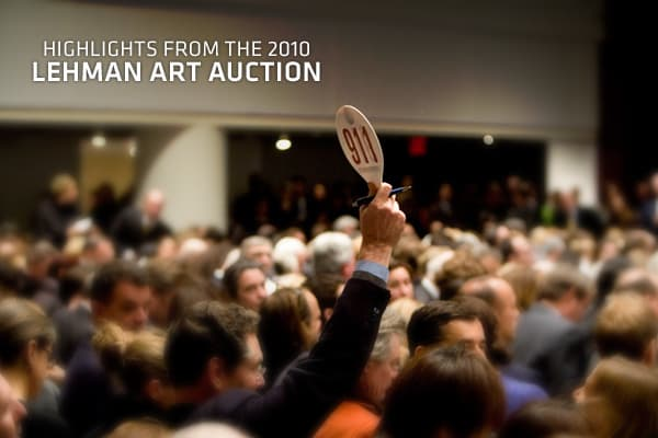 Once considered to be among the most distinguished corporate art collections in the world, the works owned by Lehman Brothers — which in a 2003 merger added the collection from Neuberger Berman — is also tied to one of the most infamous bankruptcies of all time. The collection was auctioned off on Sept. 25, 2010 by , bringing in a total of $12.3 million. Among the pieces to be auctioned are early works by many of the leading artists from the late 20th and early 21st centuries, including artists