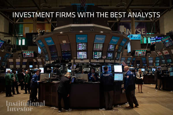 In annual All-American Research Team rankings, individual analysts are selected for their market prowess, but there's also a lot at stake for the firms at which they work. Institutional Investor ranks the top sell-side equity analysts in various sectors and in doing so list s the top three individuals as well as a runner up. From this, the magazine has developed a ranking system, where firms are awarded four points for a first - place analyst, three for second, two for third and one for runner-u
