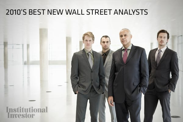 For the past 39 years, has surveyed research directors and chief investment officers at major U.S. money management firms to get their take on the best equity analysts in each sector. Although many top analysts manage to hold onto their #1 spot each year, 2010 has 12 analysts claiming top honors in their sector for the first time. They have staked out their top spots by making good calls ahead of the curve, responding to clients in short order and making a name for themselves on Wall Street. Alt