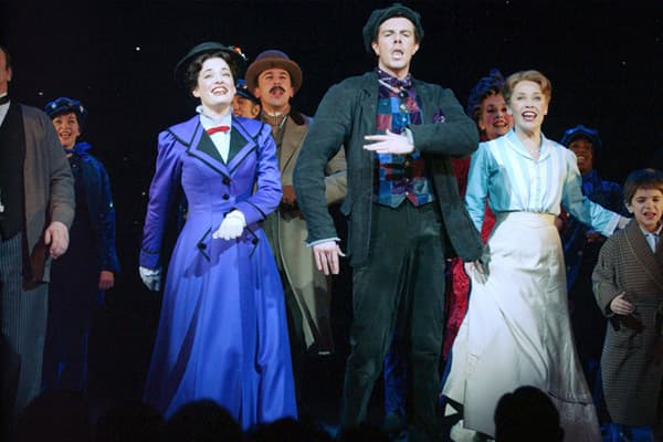 "Gross: $169.1 million Average Ticket Price: $70.44 Broadway Run: 2006 - Present Total # of Performances: 1,469 ""Mary Poppins,"" based on a series of children's books by P.L. Travers and the 1964 Disney film, marks the first collaboration between Disney and Cameron Mackintosh, legendary producer of ""Phantom of the Opera,"" ""Cats"" and ""Les Miserables."""