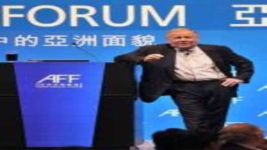 Investment guru Jim Rogers, chairman of Rogers Holdings, speaks at the Asian Financial Forum in Hong Kong on January 19, 2009