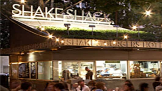 The original Shake Shack location at New York's Madison Square Park.
