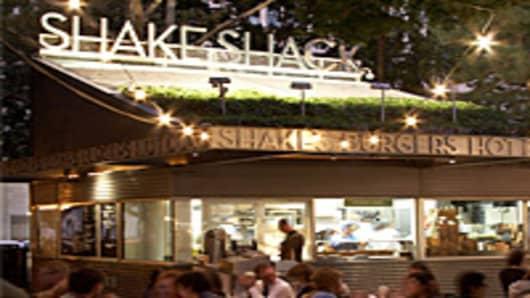 The original Shake Shack location at New York's Madison Square Park.