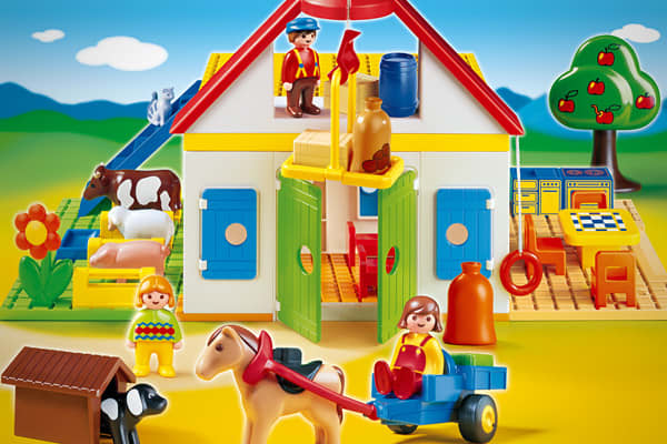 Manufacturer: PlaymobilSuggested retail price: $54.99 Recommended ages: 18 months to 4 years Sure to inspire hours of open-ended play, this farm-themed playset contains colorful animals that are larger than the traditional Playmobil figures and pieces, in order to be appropriate for toddlers.