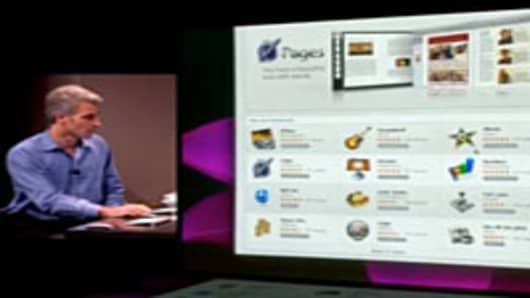 Craig Federighi, Apple's Vice President walks us through Pages in the MacStore.