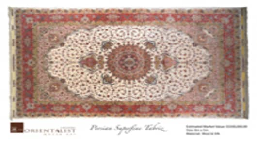 Super-fine wool-on-silk carpet from Tabriz, Iran. Measures 8m x 5m and retails for S$500,000 ($383,267).