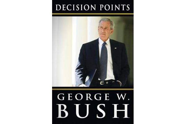 "Price: $350.00 Author: George W. Bush Pages: 512Publisher: Crown ""It was a simple question, 'Can you remember the last day you didn't have a drink?'"" And with that, ""Decision Points"" - the memoir of the nation's 43rd president - begins. George W. Bush—who left the Oval Office aboard the Marine One helicopter on Jan. 20, 2009, and pretty much secluded himself in the sleepy Dallas suburb of Preston Hollow--is now back out in the open, and opening up, giving his first public account of his tumultuo"