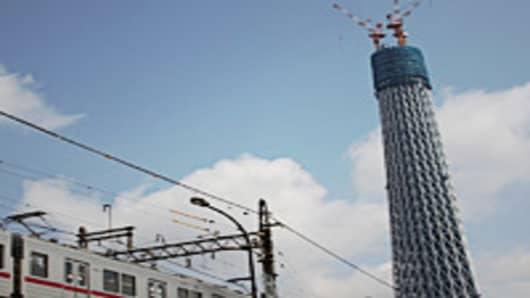 Tokyo Sky tree building underconstruction