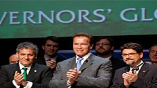 Governor Arnold Shwarzenegger joined several leaders from around the world to announce the first alliance that will work toward climate change solutions.