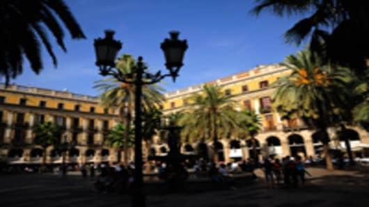plaza reial barcelona spain