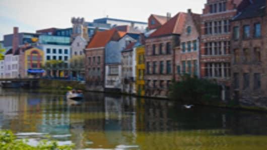 leie river ghent belgium