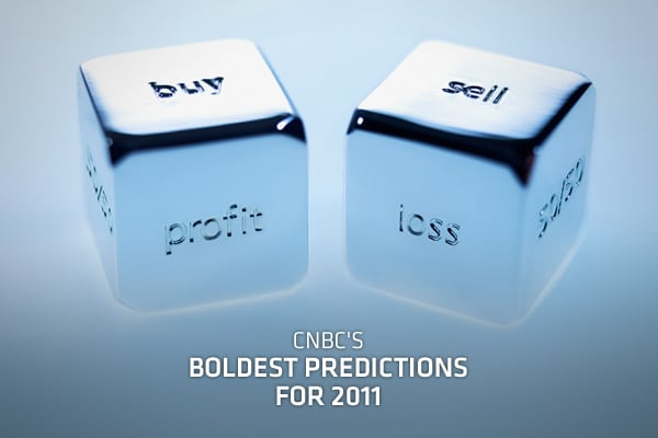 There's nothing like a bold, even, outrageous prediction, and in compiling some 150 predictions from three-dozen staffers and contributors this year, we came away with some out-of-the-box answers. Though they may be bold, they are certainly in the realm of possibilities. So, take a look at who at CNBC is saying what, in their own words.