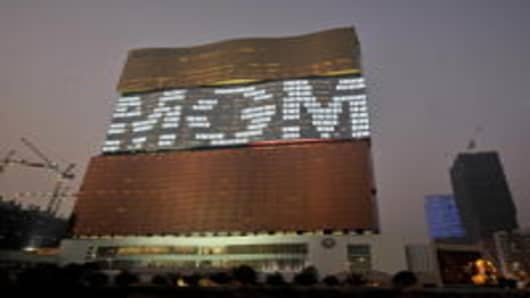 Frontage of MGM Grand in Macau, China