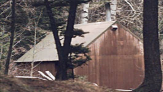Cabin belonging to Ted John Kaczynski, Lincoln, MT