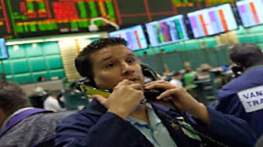 A commodities trader at the New York Mercantile Exchange.