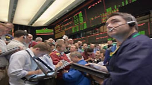 Commodities traders at the New York Mercantile Exchange.