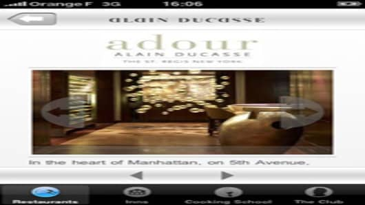 Alain Ducasse Iphone application