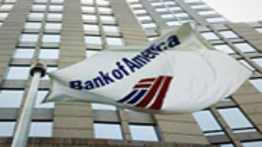 Bank of America exterior shot.