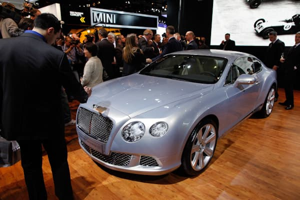 Originally debuted at the Paris Auto Show in October 2010, the New Bentley Continental GT was on display in Detroit. Although it was not an original reveal, a Bentley will still turn heads at any auto show. Its hand-crafted interior and upgrades are the things to note on the 2011 Continental. It features a 6.0-liter W-12 engine, with 567 hp and 516 pound-feet of torque.