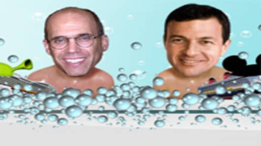 Jeffery Katzenberg and Bob Iger of Disney
