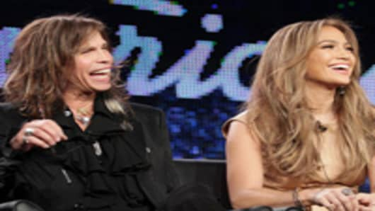 Steven Tyler and Jennifer Lopez of American Idol