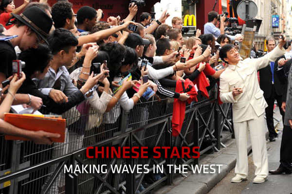 Jackie Chan sightings in Paris at Le Grand Rex Cinema on July 25, 2010 in Paris, France.