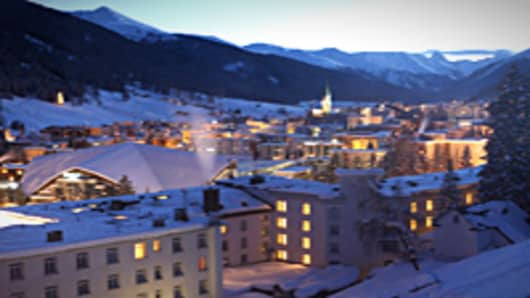 Davos skyline at night
