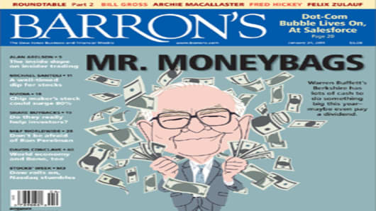 Barron's January 24, 2011 Cover: Mr. Moneybags
