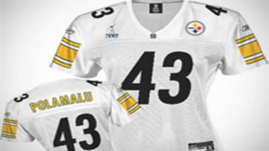Reebok Pittsburgh Steelers Troy Polamalu Women's Replica White Jersey