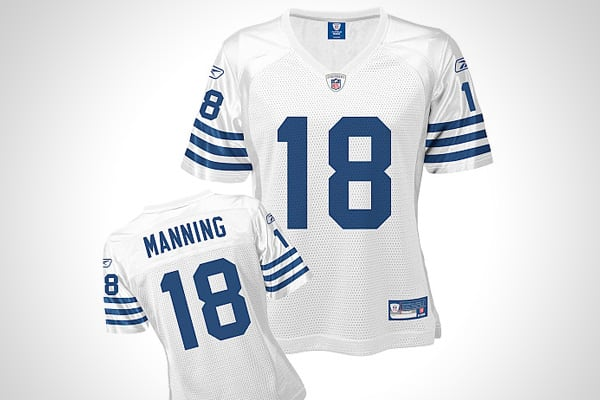 He's a good boy who also happens to do quite well on the field. Given his longevity with the Colts, buying a Peyton Manning jersey is a good investment, as far as player-specific apparel goes, both for men and women.