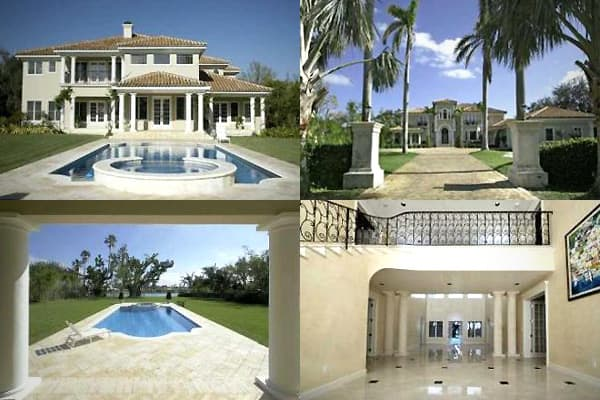 Location: Indian Creek Village, FloridaSale price: $9,300,000 This palatial two-story Mediterranean-style concrete waterfront property, built in 1991, was the onetime residence of Beyonce and Jay-Z. It's 7,888 square feet with 7 bedrooms, 8 full and two partial baths, a tile roof, and a pool. It's situated on an exclusive golf and residential island located between Bal Harbor and Miami Beach. Indian Creek Island is one of the wealthiest communities in America and is favored by celebrities, due i