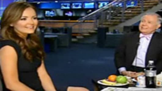 Nicole Lapin with Jim Rogers